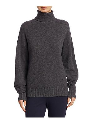Theory drop shoulder cashmere turtleneck sweater