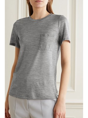 Theory easy pocket mélange wool-jersey t-shirt
