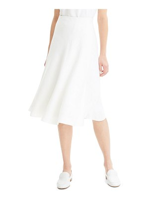 Theory Faux-Wrap Herring Linen A-Line Skirt
