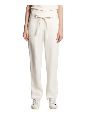 Theory Gunilla Straight Silk Pants