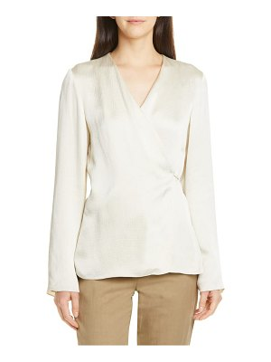 Theory hammered wrap top