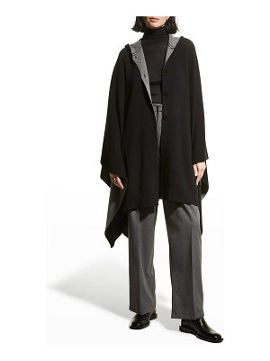 Theory Hooded Double-face Wool-Cashmere Poncho