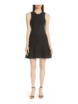 Theory knit fit & flare dress