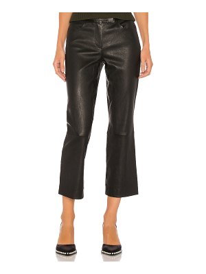 Theory leather bristol crop pant