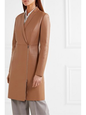 Theory leather coat