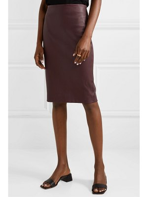 Theory leather pencil skirt