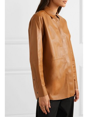 Theory leather shirt
