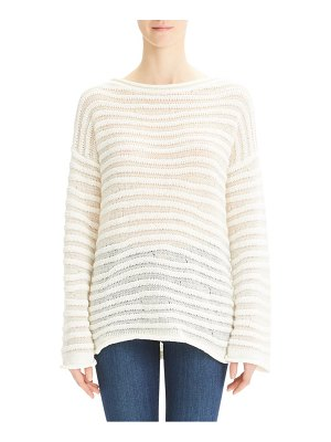 Theory links links stripe cotton blend sweater