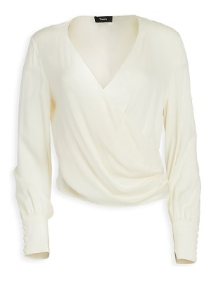 Theory long sleeve wrap top