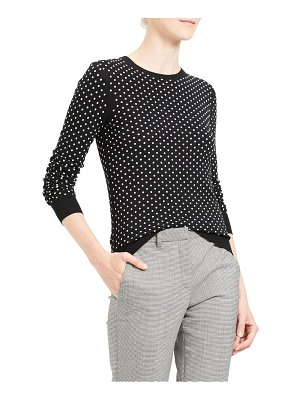 Theory mini polka dot wool sweater
