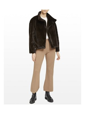 Theory Offset Aspen Cropped Faux-Fur Jacket