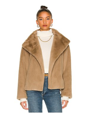 Theory offset faux fur jacket