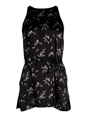 Theory Perfect Tie Floral Silk Tunic