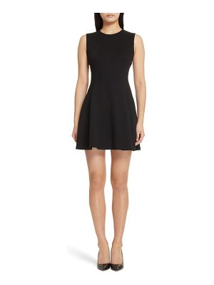 Theory pique fit & flare dress
