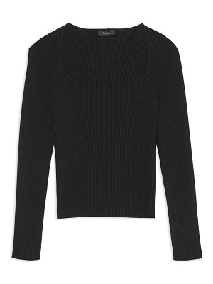 Theory portrait squareneck sweater