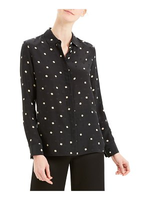 Theory Printed Classic Button-Down Straight Shirt