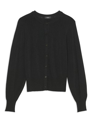 Theory puff-sleeve cardigan