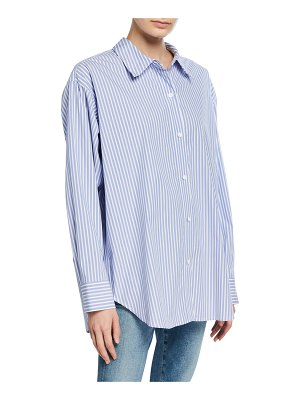 Theory Relaxed Striped Button-Down Shirt