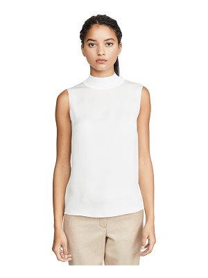 Theory rib neck silk shell