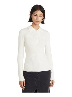 Theory rib polo sweater