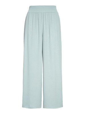 Theory rib waist wide leg trousers