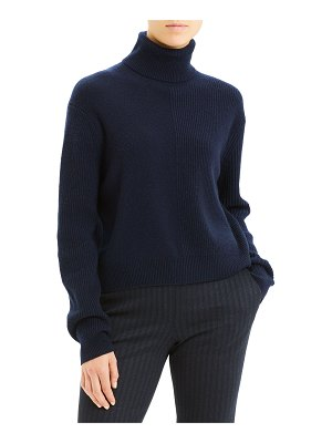 Theory Ribbed Cashmere Turtleneck Sweater