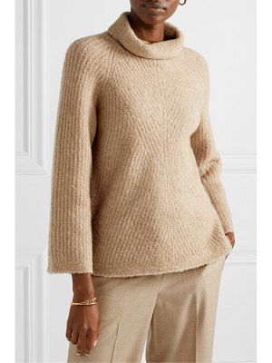 Theory ribbed merino wool-blend bouclé turtleneck sweater