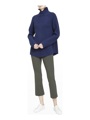Theory Ribbed Turtleneck Cashmere Top