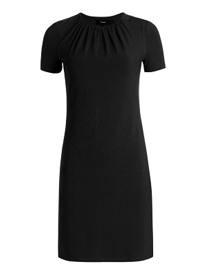 Theory ruched sleeve t-shirt dress