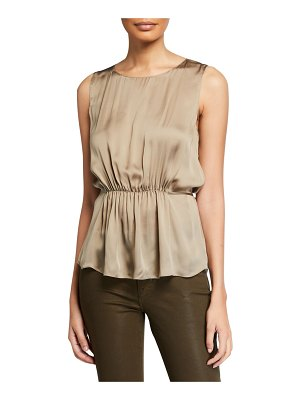 Theory Shirred Silk Tank