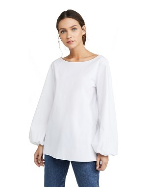 Theory shirred sleeve top