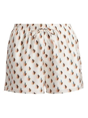 Theory simple floral silk shorts