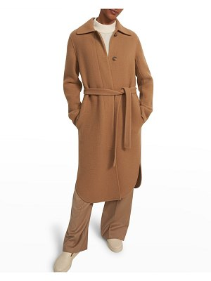 Theory Single-Breasted Long Wool-Cashmere Coat