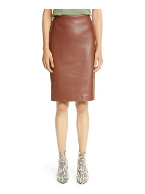Theory skinny faux leather pencil skirt
