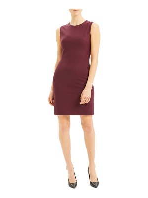 Theory sleeveless stretch wool sheath dress
