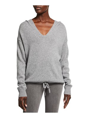 Theory Slouchy V-Neck Cashmere Hoodie