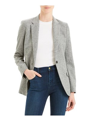 Theory Speckle Wool Staple Blazer