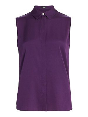 Theory stretch silk sleeveless top