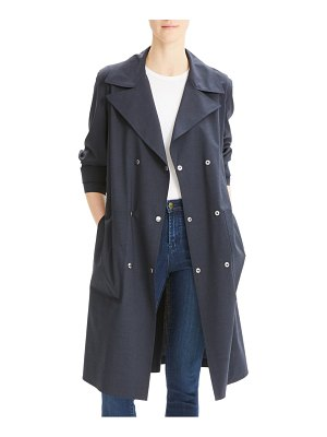 Theory stretch wool military trench coat