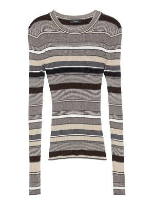 Theory stripe wool sweater