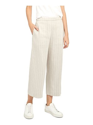 Theory Striped Wide-Leg Cropped Pull-On Pants