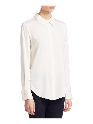 Theory sunaya silk blouse