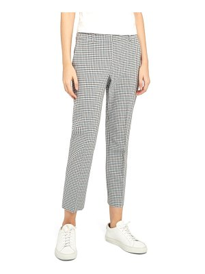 Theory treeca check crop pants
