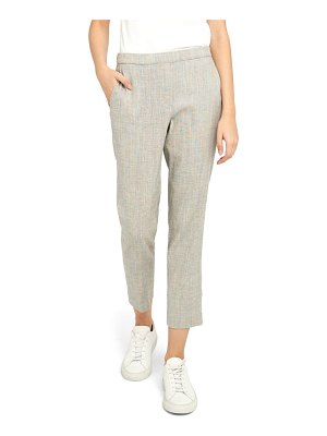 Theory treeca pull-on linen blend crop trousers
