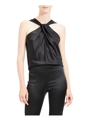 Theory twist stretch satin top