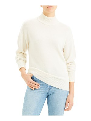 Theory Whipstitch Cashmere Turtleneck Sweater