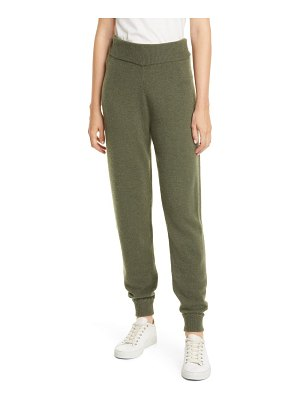 Theory whipstitch detail cashmere jogger pants