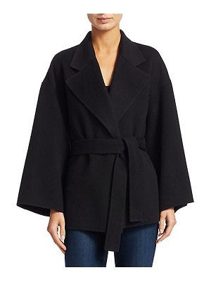 Theory wool & cashmere belted robe jacket