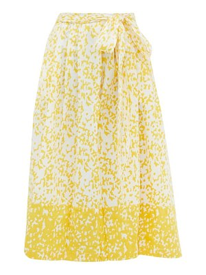 THIERRY COLSON java abstract-print cotton wrap skirt