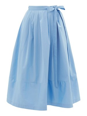THIERRY COLSON java pleated cotton wrap skirt